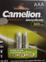 باتری شارژی نیم قلمی Camelion AAA