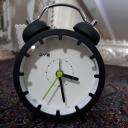 ساعت رومیزی رنگ مشکی