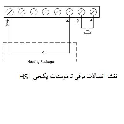 نقشه نصب اتصالات برقی ترموستات پکیج