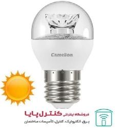 لامپ LED حبابی  کریستالی آفتابی 6 وات Camelion