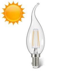 لامپ LED شمعی فیلامنت اشکی آفتابی 4 وات کملیون Camelion