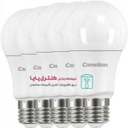 بستۀ پنج تایی لامپ LED حبابی مهتابی 9 وات