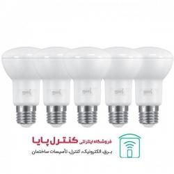 لامپ LED رفلکتور 6 وات مهتابی 5 تایی پارسه شید