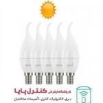 لامپ LED شمعی اشکی مات 6 وات آفتابی 5 تایی پارسه شید