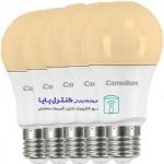 لامپ LED حبابی  افتابی 7 وات بسته پنج تایی