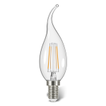 لامپ LED شمعی فیلامنت اشکی مهتابی 4 وات کملیون Camelion