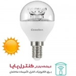 لامپ LED حبابی پایه شمعی کریستالی افتابی 6 وات Camelion