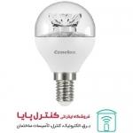 لامپ LED حبابی پایه شمعی کریستالی مهتابی 6 وات Camelion