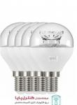 لامپ LED حبابی کریستالی 6 وات مهتابی 5 تایی پارسه شید